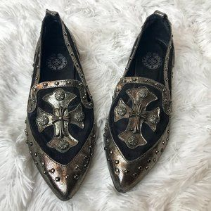 Chrome Hearts Black Mesh Flats with Silver…